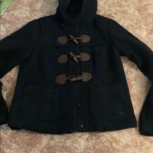 Navy Blue Abercrombie & Fitch Wool Pea Coat.